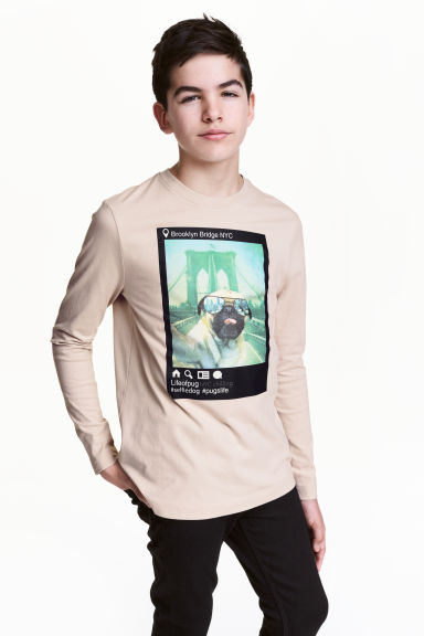 Long-sleeved T-shirt - Light mole - Kids | H&M CN