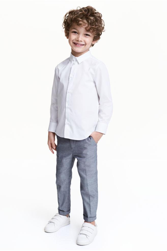 12c3b3c04e2d Suit trousers - Dark blue marl - Kids | H&M ...
