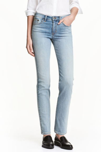 Straight Regular Jeans - Light denim blue - Ladies | H&M CN