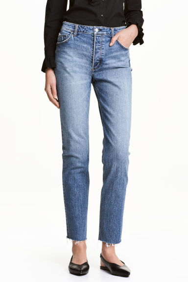 Girlfriend Regular Jeans - Denim blue - Ladies | H&M IE