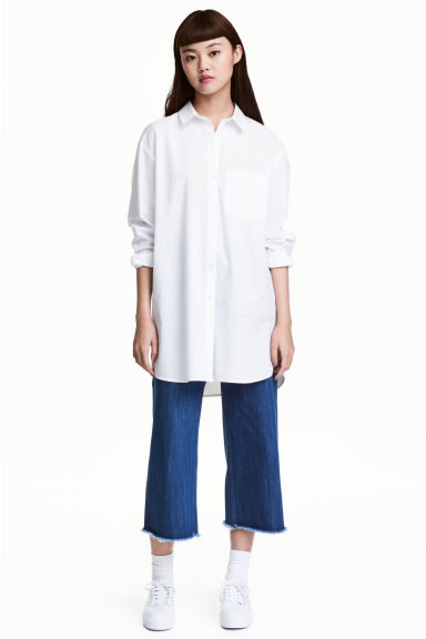 Oversized shirt - White -  | H&M CN