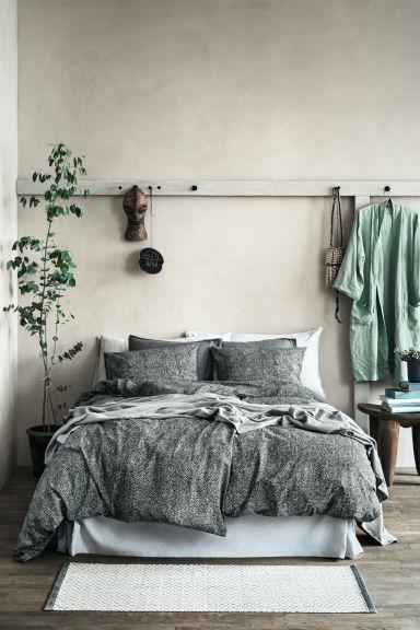Spot Print Duvet Cover Set Anthracite Grey Home All H M Gb