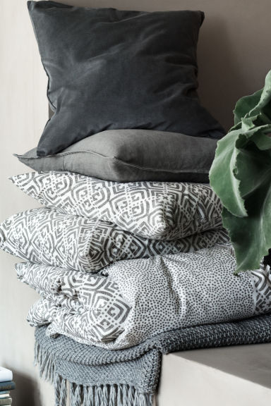 Plaid au point de riz - Gris - HOME | H&M CH
