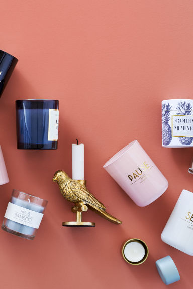 Bougie parfumée - Rose ancien/Fresh flowers - Home All | H&M FR