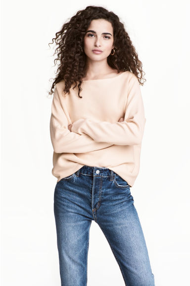 Fine-knit jumper - Powder -  | H&M GB