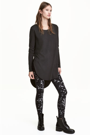 Long jersey top - Black - Ladies | H&M CN