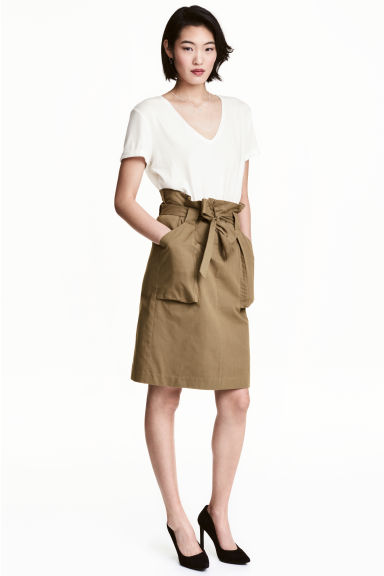 Cargo skirt - Khaki - Ladies | H&M