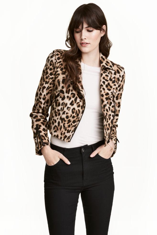 Veste courte de style motard - Motif léopard - FEMME   H M FR 1 6588e445dc14