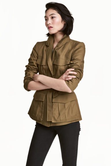 Fitted utility jacket - Khaki -  | H&M