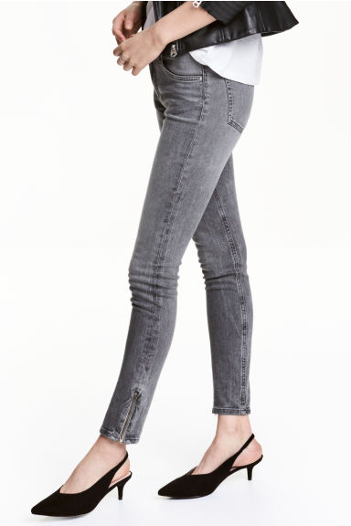 Skinny Low Jeans - Grey denim - Ladies | H&M