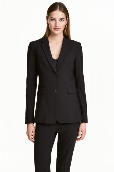 Wool-blend jacket - Black - Ladies | H&M CN