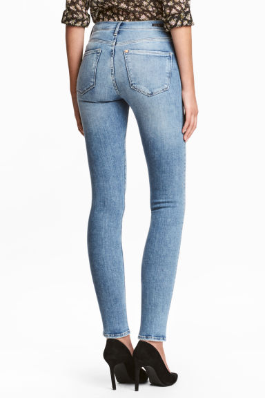 Shaping Skinny Regular Jeans - Denim blue/Washed - Ladies | H&M CN
