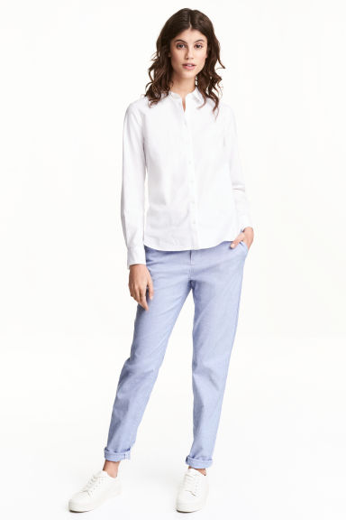 Chinos - Blu/righe - DONNA | H&M IT