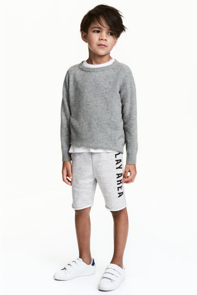 Sweatshirt shorts - Grey marl - Kids | H&M CN
