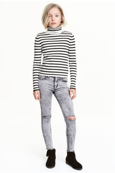 Stretch trousers - Grey washed out - Kids | H&M CN