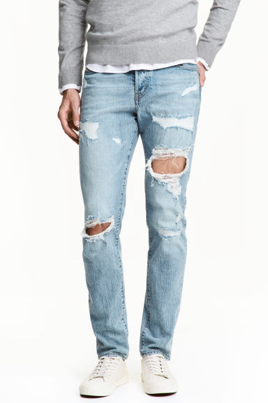 Relaxed Skinny Jeans - Light denim blue - Men | H&M IE