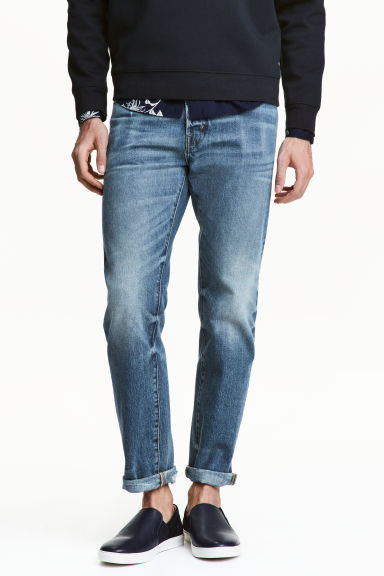 Straight Jeans - Blu denim - UOMO | H&M IT