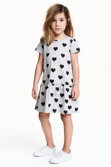 Jersey dress - Grey heart - Kids | H&M