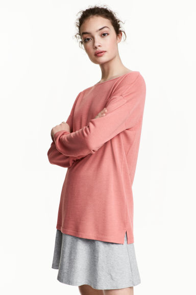 Long-sleeved jersey top - Pink -  | H&M CN