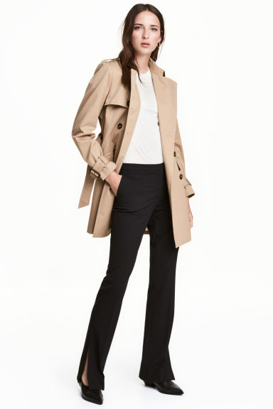 Trench-coat court - Beige clair - FEMME | H&M FR