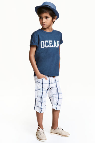 Clamdiggers - White/Checked - Kids | H&M