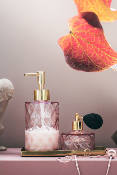 Flacon de parfum en verre - Rose clair - Home All | H&M FR