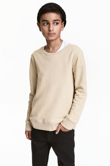 Sweatshirt - Light beige -  | H&M CN