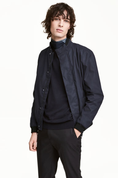 Short jacket - Dark blue - Men | H&M IE