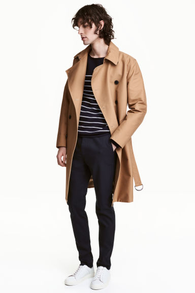 Cotton trenchcoat - Dark beige - Men | H&M