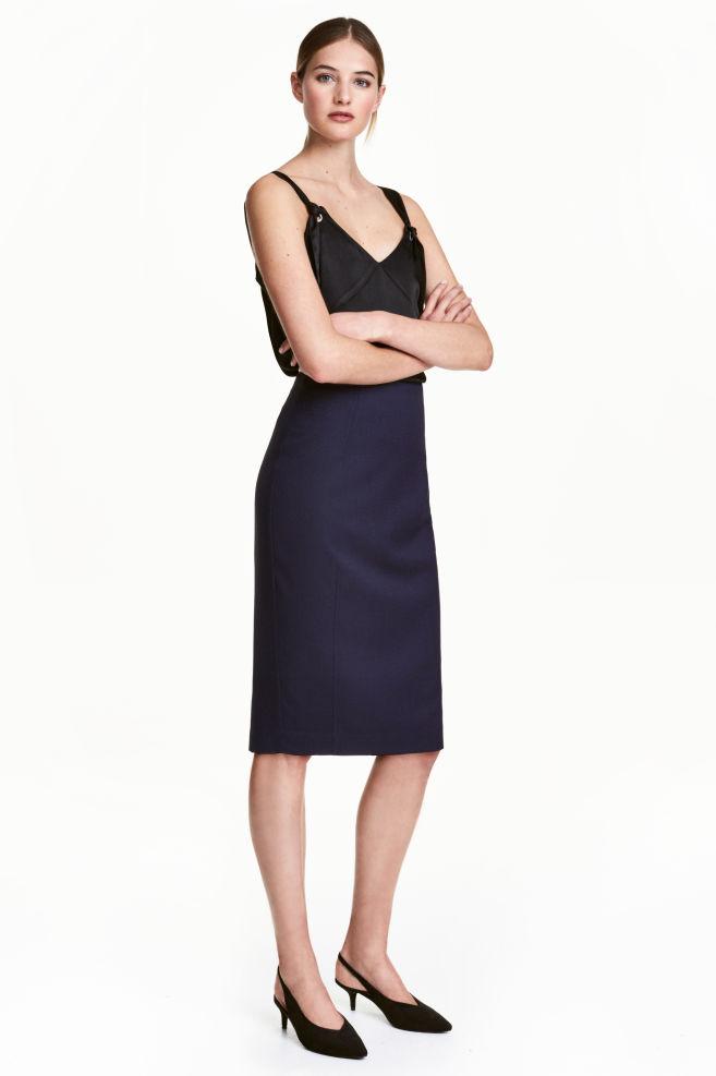 74c561483de Falda de tubo - Azul oscuro Estampado - MUJER