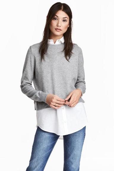 nuovo di zecca 4b27f dcdd2 Pullover con dettagli camicia