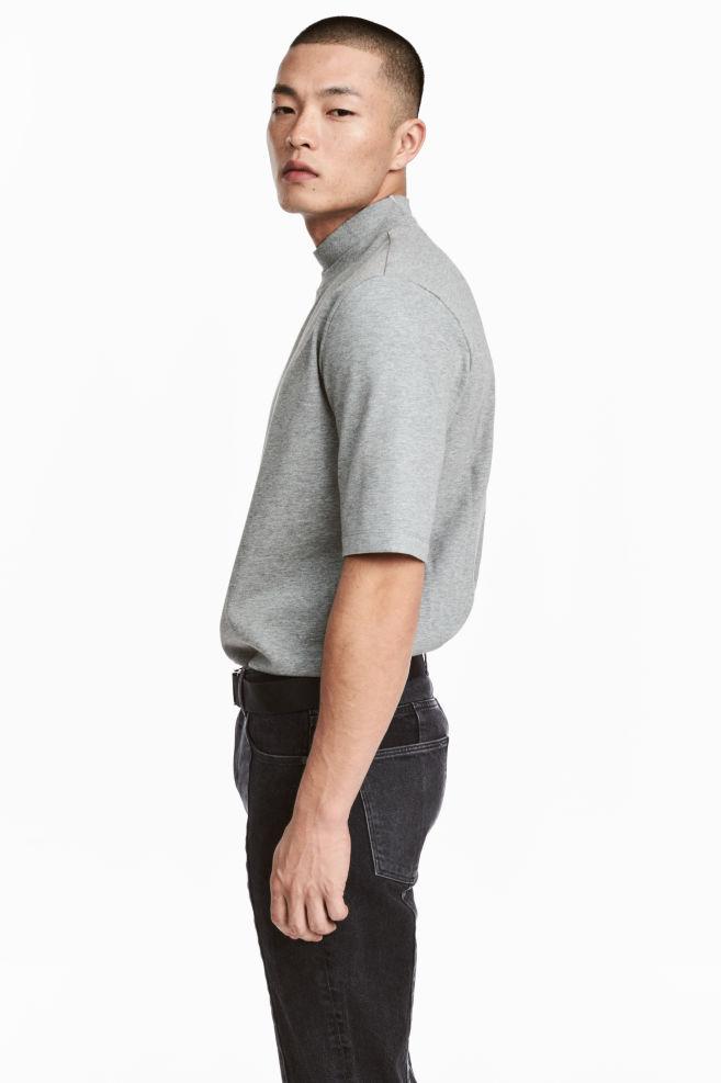 8a424aa191 Galléros póló - Szürke melír - FÉRFI   H&M ...