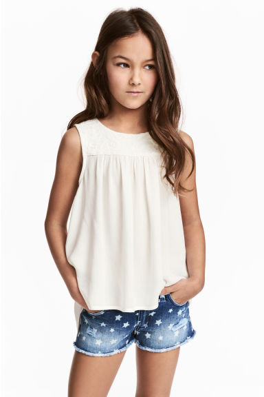 Open-back top - White - Kids | H&M