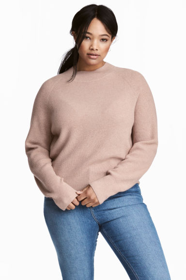 H&M+ Cashmere jumper - Powder beige - Ladies | H&M GB
