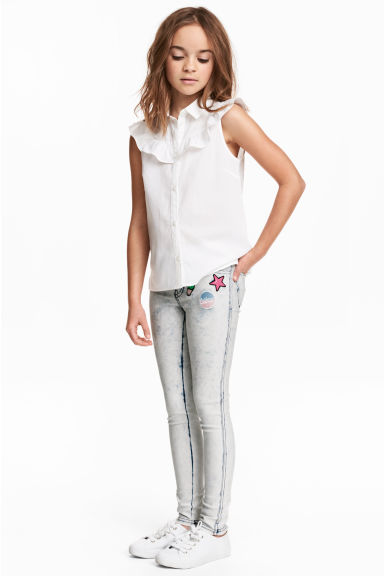 Treggings - White/Acid -  | H&M