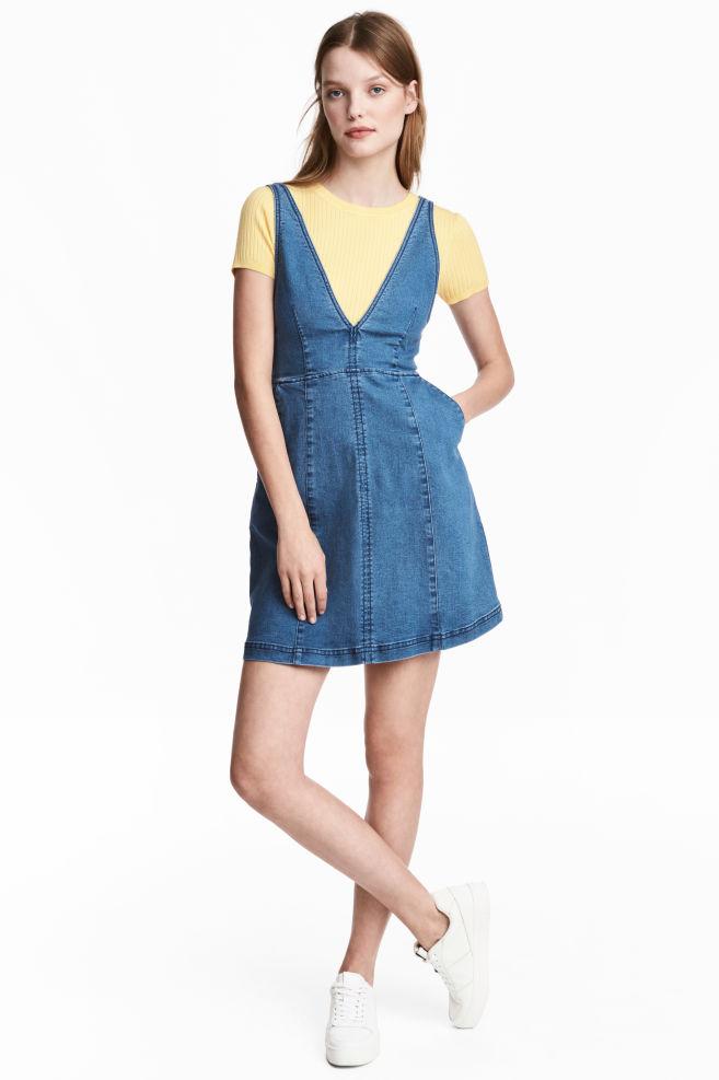 69643eeffd4 Джинсовое платье - Голубой деним -