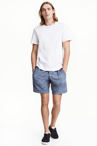 Sweatshirt shorts - Blue marl -  | H&M