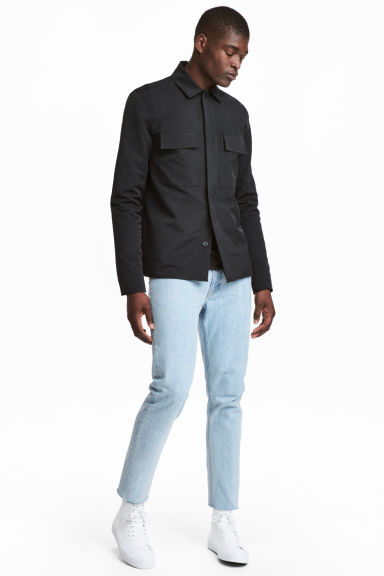 Slim Regular Cropped Jeans - Bleu denim clair - HOMME | H&M FR