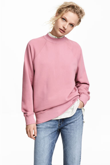 Sweatshirt with raglan sleeves - Vintage pink - Ladies | H&M GB