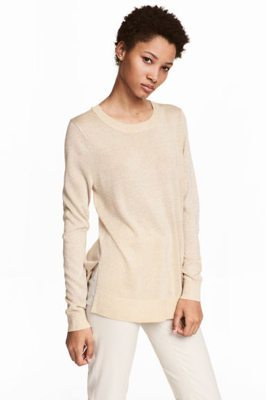 Fine-knit jumper - Light beige - Ladies | H&M CN