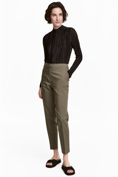 Suit trousers - Khaki green - Ladies | H&M CN