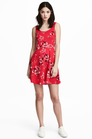 Jersey dress - Red/Floral -  | H&M GB