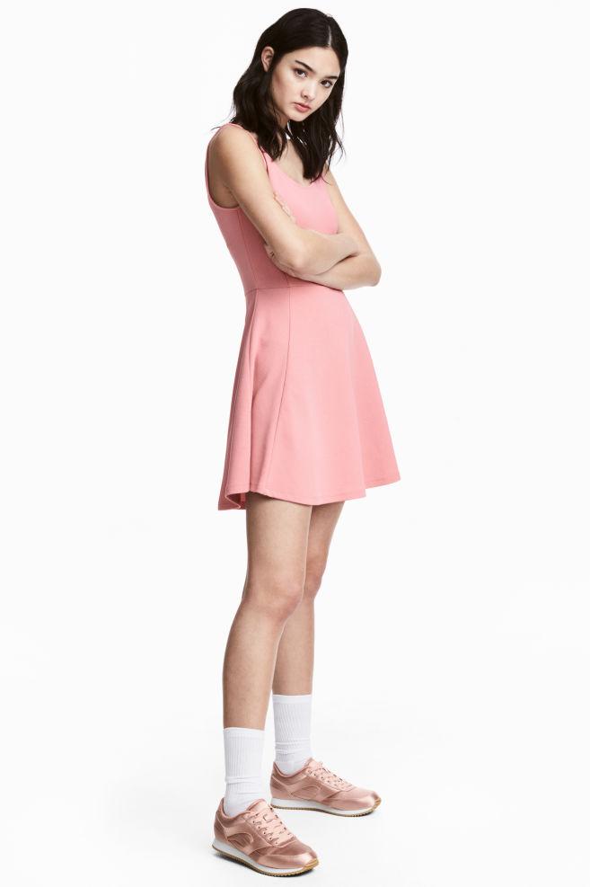 7c86f19e394d3ef Трикотажное платье - Розовый - | H&M ...