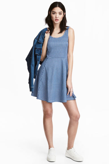 Abito in jersey - Blu/quadri - DONNA | H&M IT