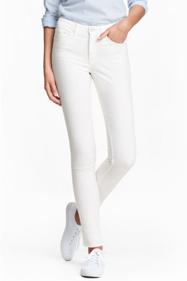 Skinny Regular Jeans - White denim -  | H&M IE