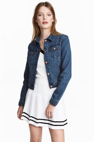 Superstretch denim jacket - Dark denim blue - Ladies | H&M GB