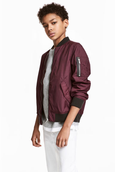 Bomber jacket - Burgundy - Kids | H&M CN
