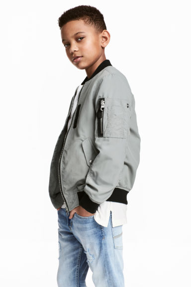 Bomber jacket - Grey -  | H&M CN