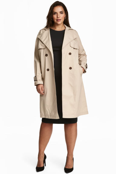 H&M+ Trenchcoat - Light beige - Ladies | H&M