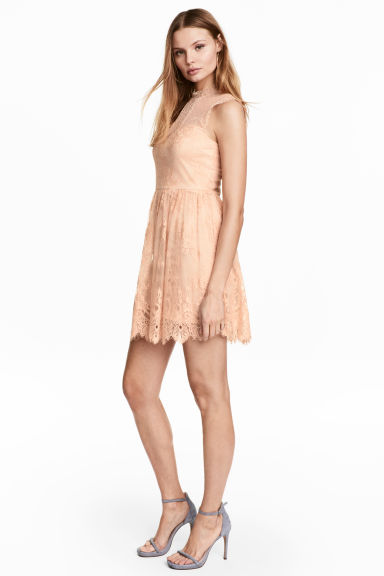 Lace dress - Powder - Ladies | H&M CN